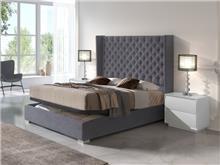 מיטה זוגית עם ארגז מצעים - DUPEN (דופן)