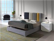 מיטה עם אחסון בשילוב צבעים - DUPEN (דופן)