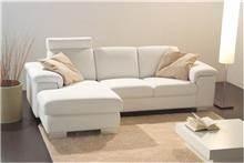 ספה לבנה עם שזלונג
