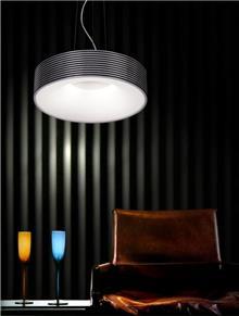 מנורה עגולה שחור לבן