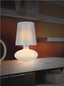 מנורה לבנה לשולחן - ברק תאורה