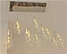 מנורת תלייה מובייל מבחנות שקוף - ברק תאורה