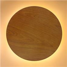 קיר מון עגול עץ
