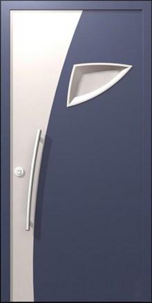 דלת כניסה מפלדה בשילוב זכוכית