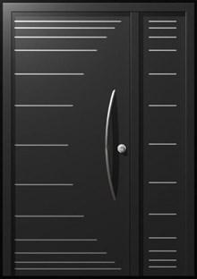 דלת כניסה מפלדה כנף וחצי