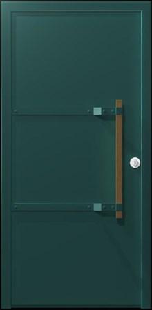 דלת כניסה ירוקה