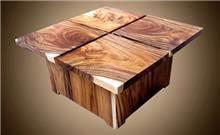 שולחן קפה יחודי - Treemium - חלומות בעץ מלא