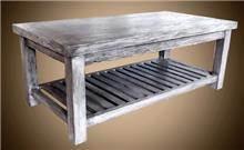 שולחן עץ מלא בגוון אפור - Treemium - חלומות בעץ מלא