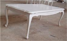 שולחן סלון לבן קלאסי - Treemium - חלומות בעץ מלא