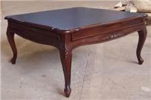 שולחן סלון מרובע רחב