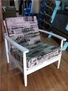 כורסא עם ריפוד מודפס - Treemium - חלומות בעץ מלא