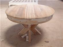 שולחן עגול בגוון טבעי - Treemium - חלומות בעץ מלא