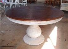 שולחן עגול במראה מיוחד - Treemium - חלומות בעץ מלא