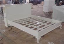 מיטה לבנה מעץ מלא - Treemium - חלומות בעץ מלא