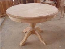 שולחן עגול בגוון עץ - Treemium - חלומות בעץ מלא