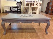שולחן סלון עץ מלא מגולף - Treemium - חלומות בעץ מלא
