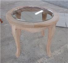שולחן צד עגול טבעי - Treemium - חלומות בעץ מלא