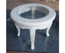 שולחן צד לבן - Treemium - חלומות בעץ מלא