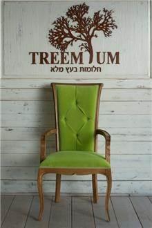 כיסא מפואר עץ מלא אלון - Treemium - חלומות בעץ מלא