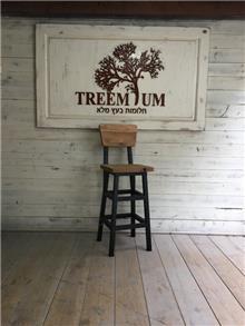 כיסא בר מעץ - Treemium - חלומות בעץ מלא