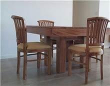 שולחן אוכל + 4 כיסאות - Treemium - חלומות בעץ מלא