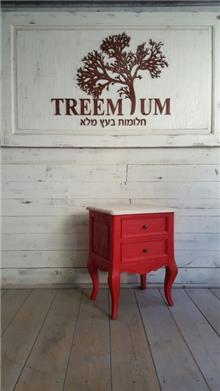שידת צד אדומה - Treemium - חלומות בעץ מלא