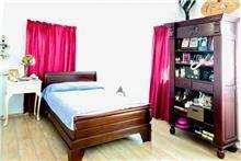 מיטת פסים מעץ - Treemium - חלומות בעץ מלא