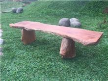 ספסל מעץ גושני - Treemium - חלומות בעץ מלא