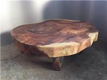שולחן סלון פרוסת גזע - Treemium - חלומות בעץ מלא