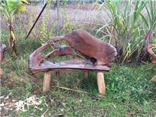 ספסל טיק 120 - Treemium - חלומות בעץ מלא
