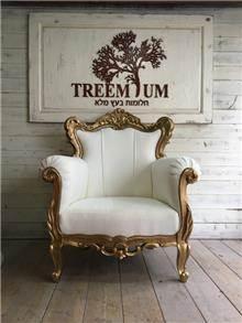כורסא מפוארת מגולפת - Treemium - חלומות בעץ מלא