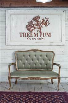 ספה זוגית מעץ 2222 - Treemium - חלומות בעץ מלא