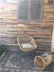 כיסא ראטן מקורי - Treemium - חלומות בעץ מלא