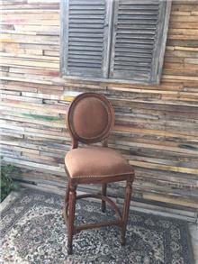 כסא בר עץ מלא 2203
