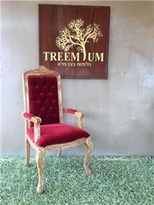כסא עץ אלון 2235 - Treemium - חלומות בעץ מלא