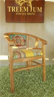 כיסא עץ מלא טיק נח - Treemium - חלומות בעץ מלא