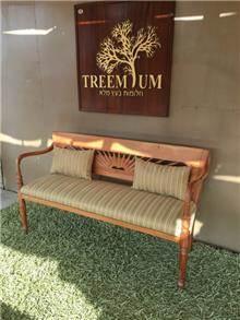 ספסל עץ מלא מהוגני  - Treemium - חלומות בעץ מלא