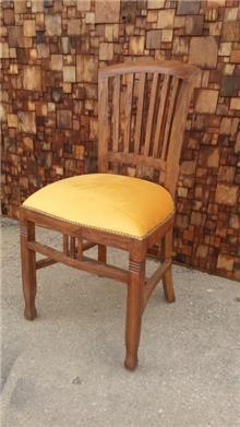 כיסא אוכל עץ טיק כולל ריפוד מושב - Treemium - חלומות בעץ מלא