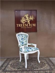 כיסא מפואר מבנה עץ מלא מהגוני - Treemium - חלומות בעץ מלא