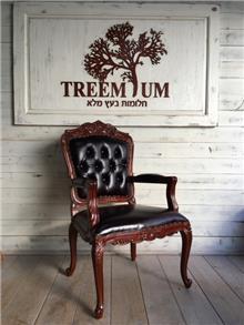 כורסא מפוארת מעץ מלא עבודת יד - Treemium - חלומות בעץ מלא