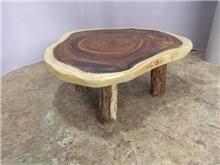 שולחן סלוני פרוסת גזע  - Treemium - חלומות בעץ מלא