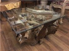 שולחן סלון שורש טיק  - Treemium - חלומות בעץ מלא