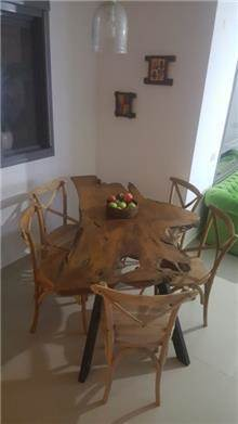 שולחן אוכל ייחודי - Treemium - חלומות בעץ מלא