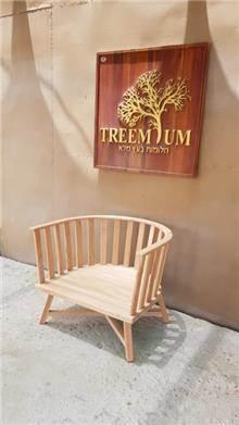 כורסא מעוגלת  - Treemium - חלומות בעץ מלא