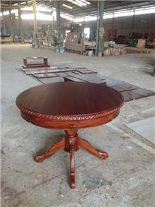 שולחן אוכל עגול מעץ מהגוני  - Treemium - חלומות בעץ מלא