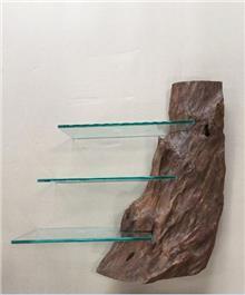 מדף תלייה עץ טיק - Treemium - חלומות בעץ מלא