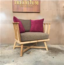 כורסא מעוצבת מעץ מלא - Treemium - חלומות בעץ מלא