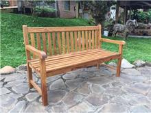 ספסל עץ מלא טיק חזק - Treemium - חלומות בעץ מלא