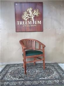 כיסא ביטוויה מעץ טיק - Treemium - חלומות בעץ מלא