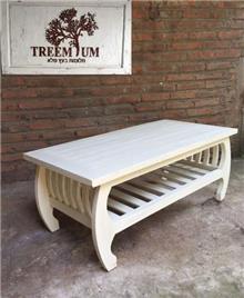 שולחן סלוני גימור רוסטיק - Treemium - חלומות בעץ מלא